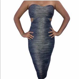 NEW  bebe Blue Strapless Tube Panel Dress